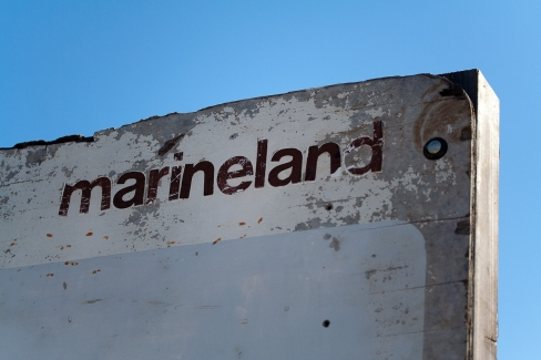 Marineland sign closeup