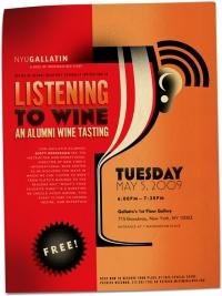 Gallatin Listening to Wine poster