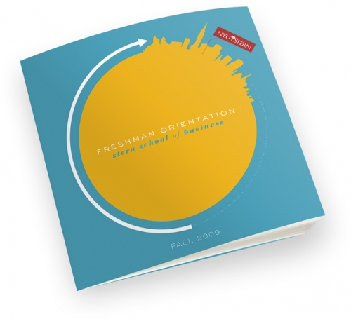 Final cover of the NYU Stern Orientation program