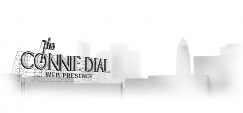Connie Dial logo and website header