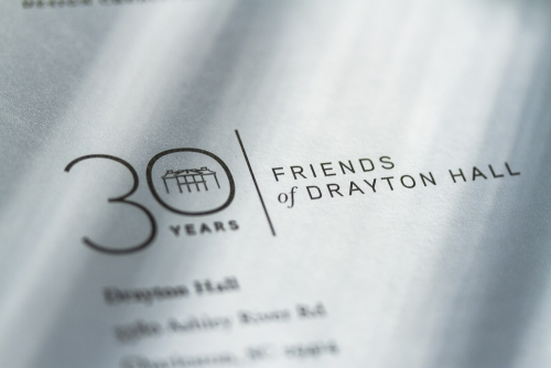 Friends of Drayton Hall 30th Anniversary logo design