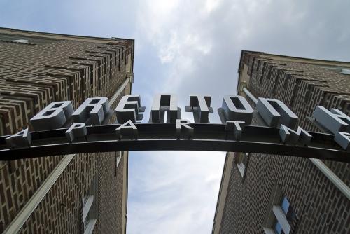 Brenton Hall Apartments sign, Narberth, Pennsylvania