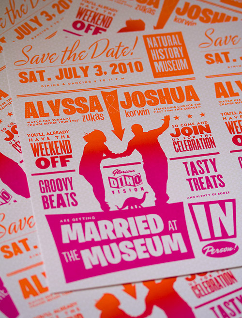 Alyssa & Josh's Wedding Save the Date Gig Poster Postcard