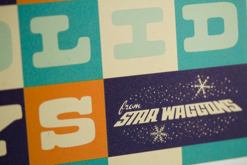 Star Waggons holiday card 2011 (front close-up)
