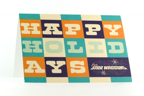 Star Waggons holiday card 2011 (front)