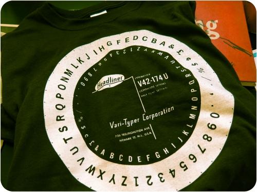 Vari-Typer t-shirt