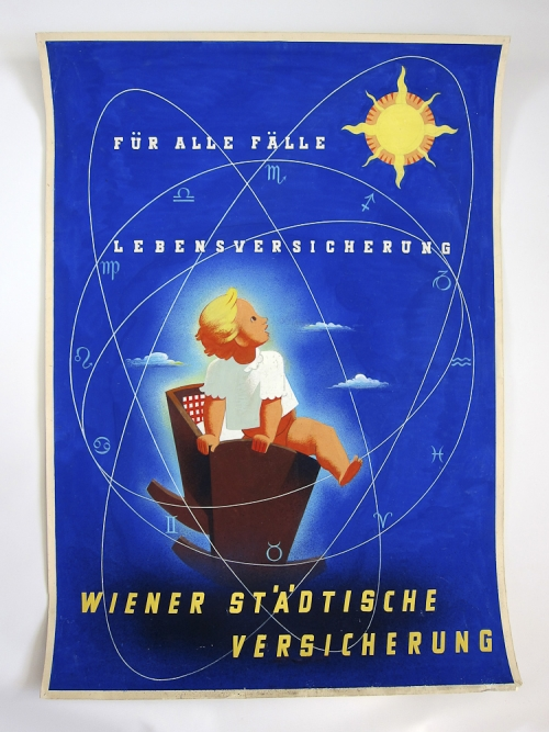 Wiener Stadtische Versicherung plakat (original poster art)