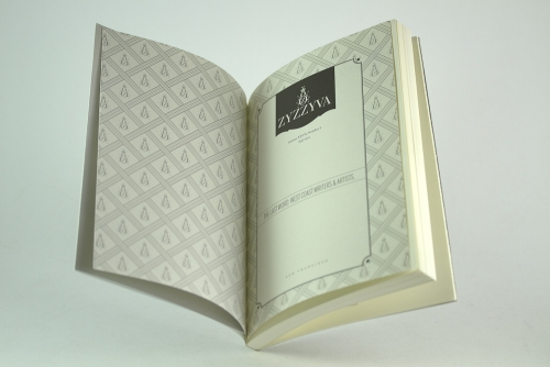 ZYZZYVA title page and endpaper