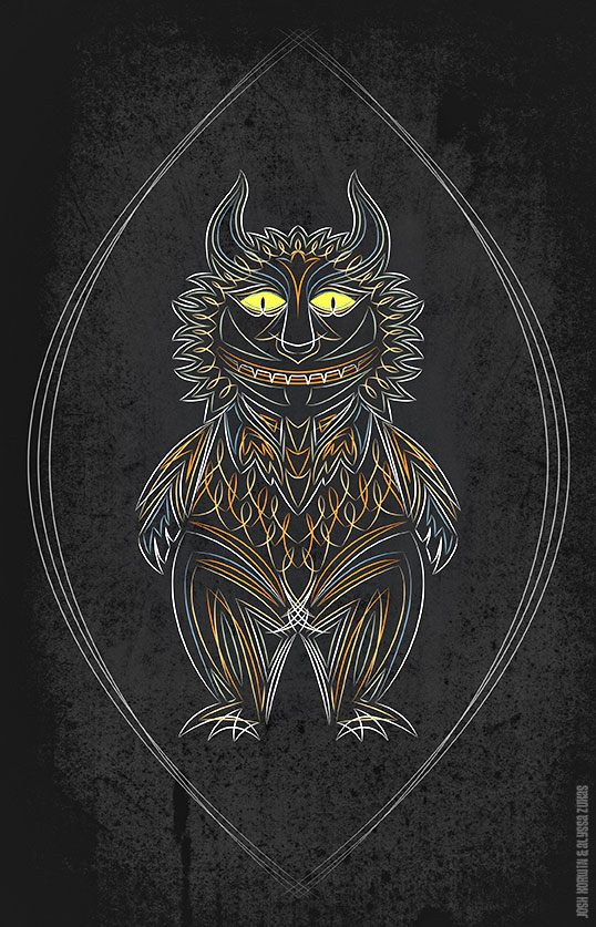 Where the Wild Things Are Pinstriping Art Tribute