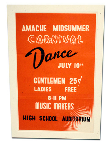 Amache Midsummer Carnival sign