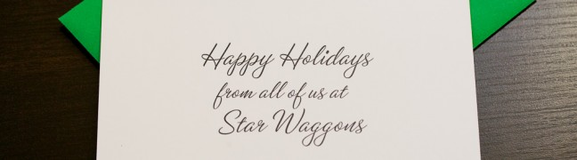 Star Waggons Holiday Card (print, inside)