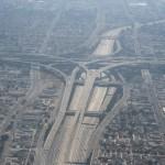 LA freeway interchange (Photo taken by Remi Jouan)