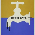 Running Water Poster for the Rural Electrification Administration, designed by Lester Beall