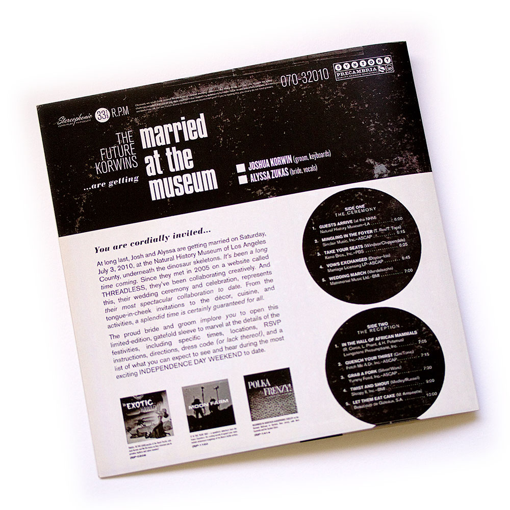 Josh & Alyssa\'s Album Cover Wedding Invitation | Three Steps Ahead