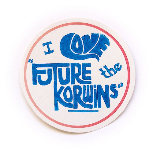 I Love the Future Korwins badge sticker