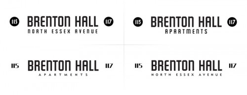 Brenton Hall signage sketches