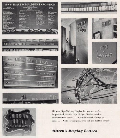 Mitten's Brochure: Signage Examples