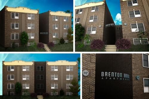 Brenton Hall 3D visualizations