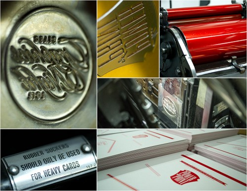 PIASC Graphics Night invitation printing process