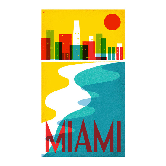 Pilot & Captain Miami poster, using Bauer House
