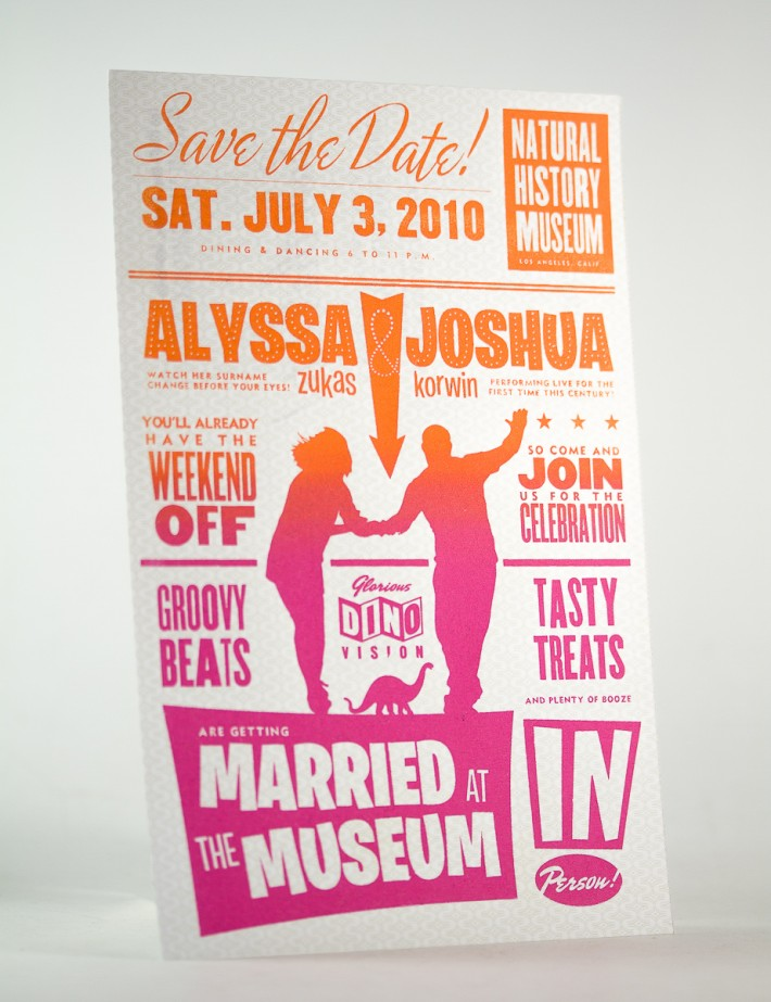 Alyssa & Josh Wedding Save the Date Postcard