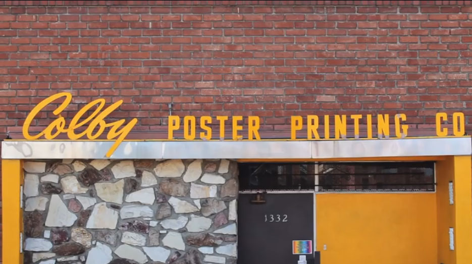 Colby Poster Printing Co. (Still from 3 Union Shop)