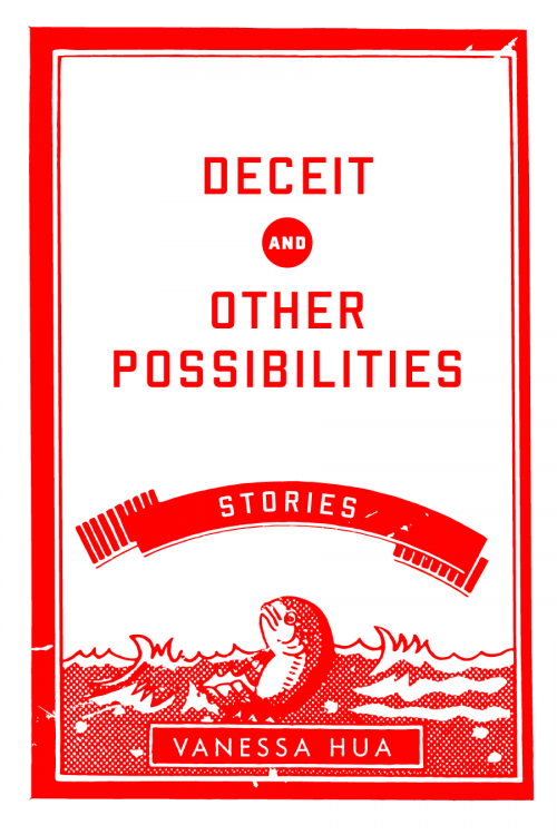 Vanessa Hua Deceit and Other Possibilities, early cover design concept C