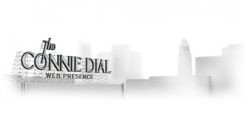 Connie Dial logo and website header