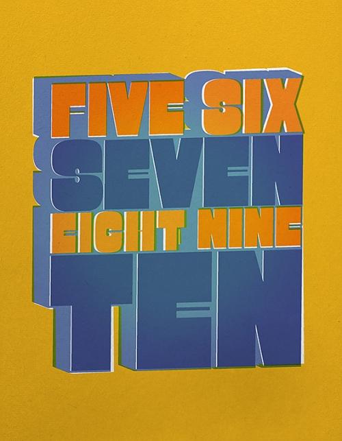 Beatles All Together Now - Five Six Seven Eight Nine Ten Print