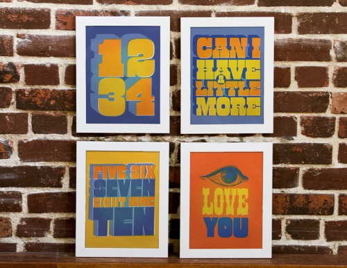 Beatles All Together Now set of four prints