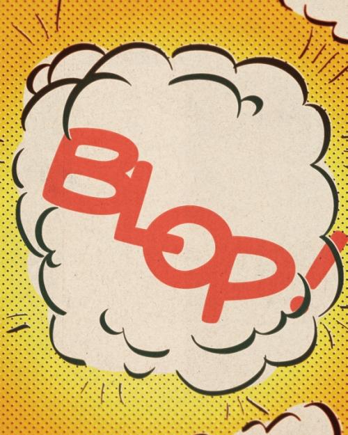 Serge Gainsbourg Comic Strip - Blop Print