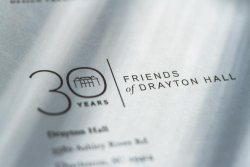 Friends of Drayton Hall 30th Anniversary logo design