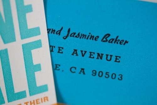 Envelope return address close-up