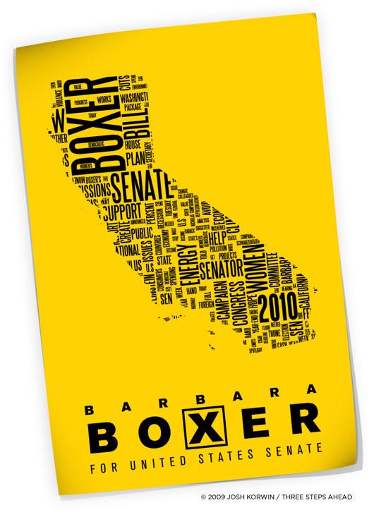 Barbara Boxer campaign poster