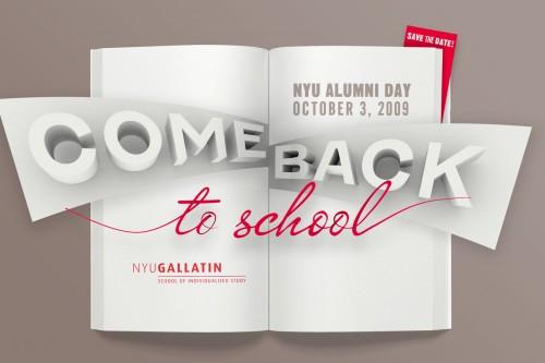 NYU Gallatin Alumni Day Postcard 2009 - Front