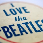 1960s vintage I Love the Beatles badge pin