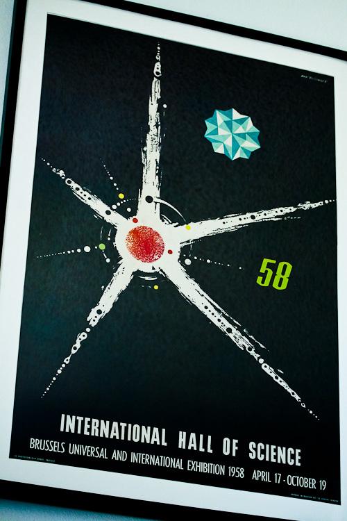 Restored 1958 Dan Reisinger Brussels Exposition Poster