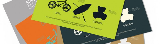 NYU Stern Sophomore Cohort Creativity Challenge Poster Alternative Colorways