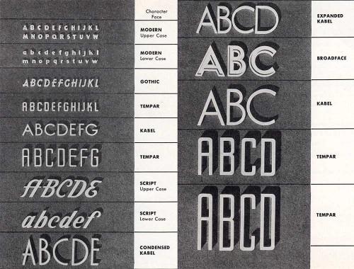 Mitten's Brochure: Letter Styles