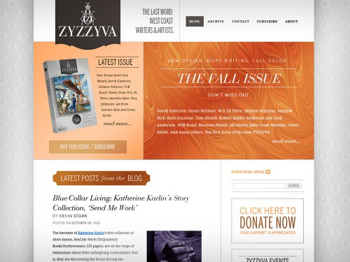 ZYZZYVA Website Design