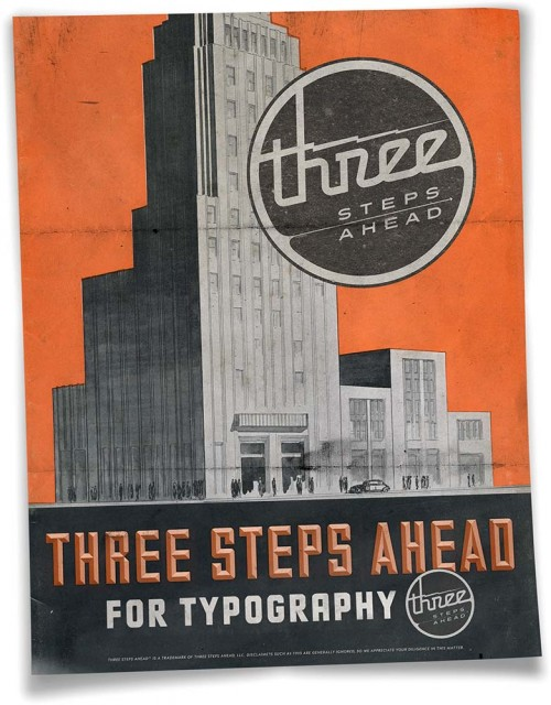 Three Steps Ahead For Typography Ad