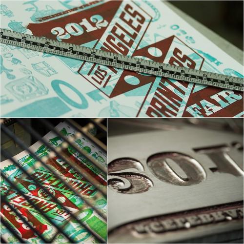 LA Printers Fair Show Guide 2012, designed by Josh Korwin, montage 1