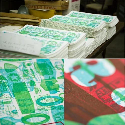 LA Printers Fair Show Guide 2012, designed by Josh Korwin, montage 4