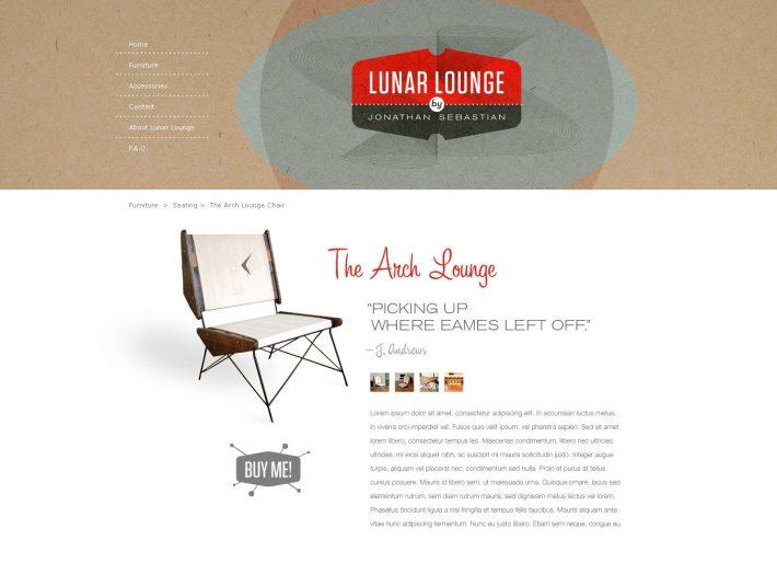 Lunar Lounge website design sketch