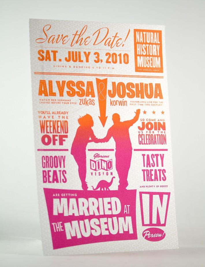 Alyssa & Josh Wedding Save the Date Postcard
