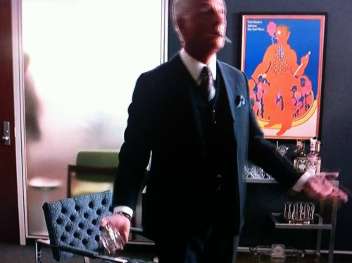 Mad Men set, with Seymour Chwast Dante's Inferno poster