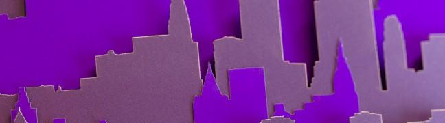 I AM STERN laser cut folding banner
